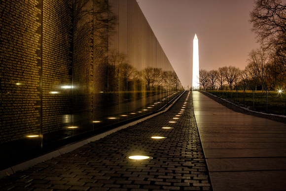 January night at the Vietnam Memorial